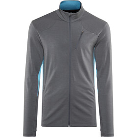 Icebreaker Fluid Zone LS Zip Shirt Herre monsoon/mediterranean